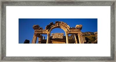 Turkey, Ephesus, Temple Ruins Framed Print by Panoramic Images