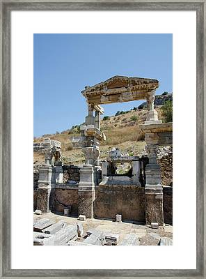 Turkey, Ephesus The Nymphaeum Traiani Framed Print by Cindy Miller Hopkins