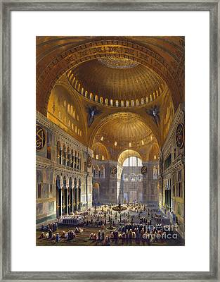 Turkey: Hagia Sopia, 1852 Framed Print by Granger