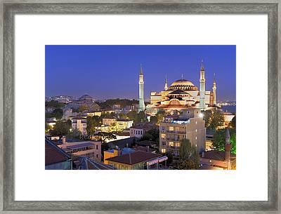Turkey. Istanbul. Hagia Sophia Basilica Framed Print by Everett