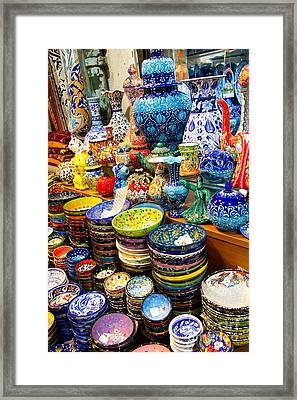 Turkish Ceramic Pottery 1 Framed Print by David Smith