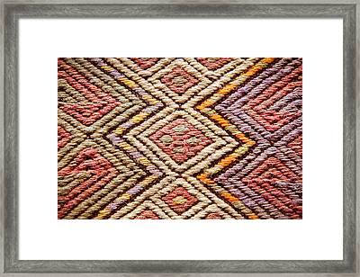 Turkish Rug Framed Print by Tom Gowanlock