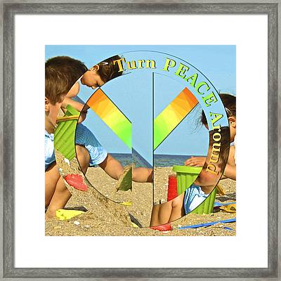 Turn Peace Around 2 Framed Print by Charlie and Norma Brock