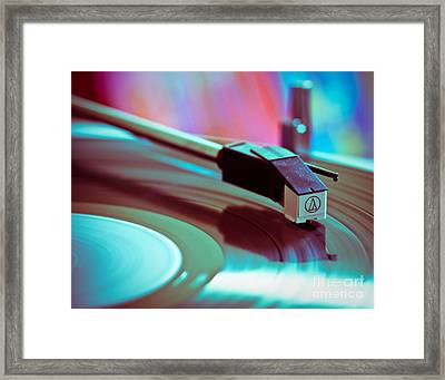 Turn Table Rock Framed Print by Sonja Quintero