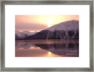 Turnagain Arm Morning Framed Print by Crystal Magee