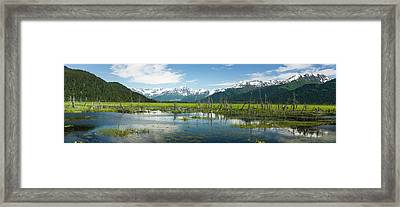Turnagain Arm With Chugach Mountains Framed Print by Panoramic Images
