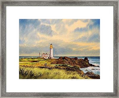 Turnberry Golf Course 9th Tee Framed Print by Bill Holkham