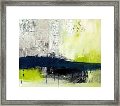Turning Point - Contemporary Abstract Painting Framed Print by Linda Woods