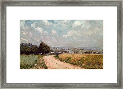 Turning Road Framed Print by Alfred Sisley