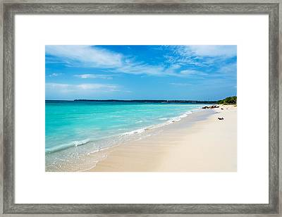 Turquoise Caribbean Water Framed Print by Jess Kraft