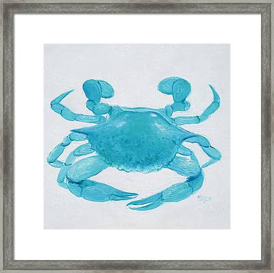 Turquoise Crab Framed Print by Jan Matson