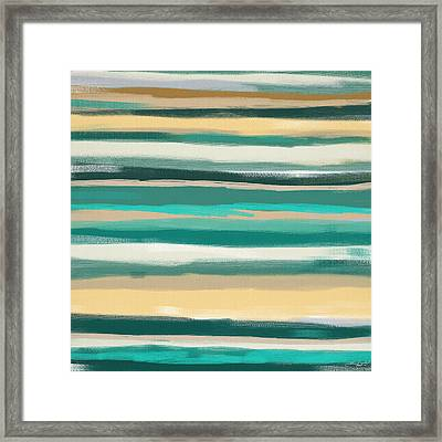 Turquoise Escape Framed Print by Lourry Legarde