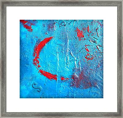 Turquoise Ledge Framed Print by Holly Anderson