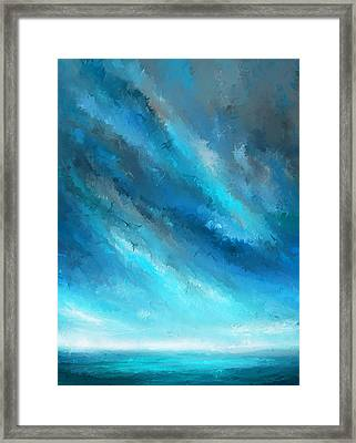 Turquoise Memories - Turquoise Abstract Art Framed Print by Lourry Legarde