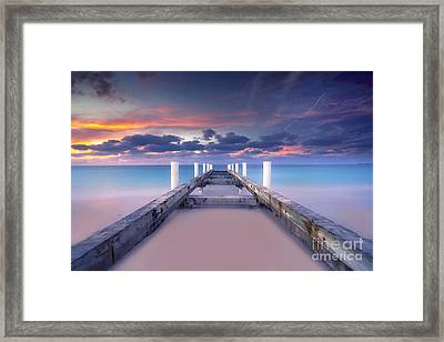Turquoise Paradise Framed Print by Marco Crupi