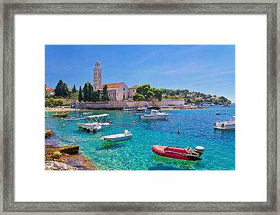 Turquoise Sea Of Hvar Island Framed Print by Dalibor Brlek