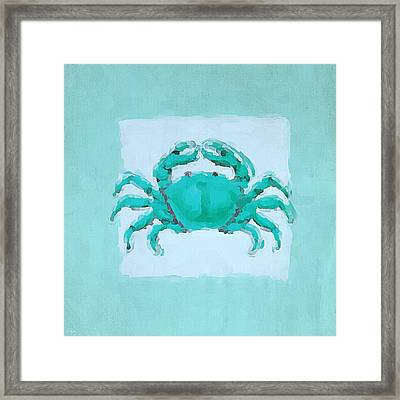 Turquoise Seashells I Framed Print by Lourry Legarde