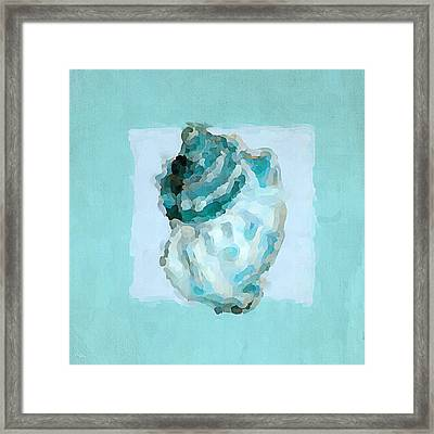 Turquoise Seashells Vi Framed Print by Lourry Legarde