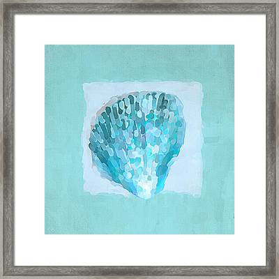 Turquoise Seashells Vii Framed Print by Lourry Legarde