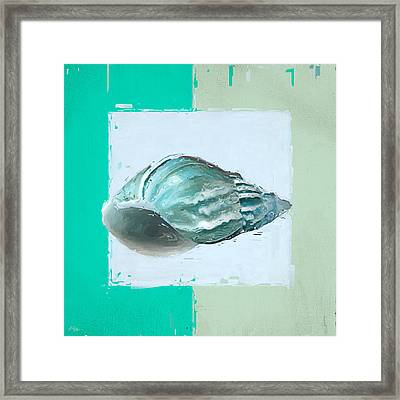 Turquoise Seashells Xiv Framed Print by Lourry Legarde