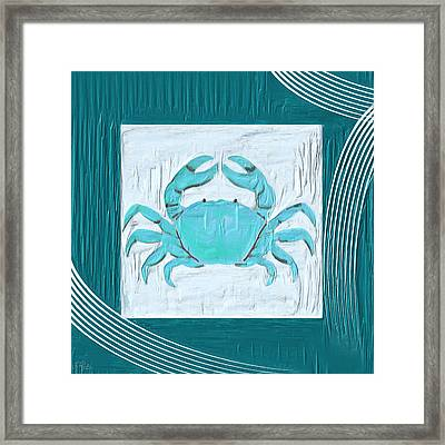 Turquoise Seashells Xix Framed Print by Lourry Legarde