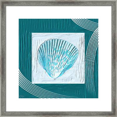 Turquoise Seashells Xxiii Framed Print by Lourry Legarde