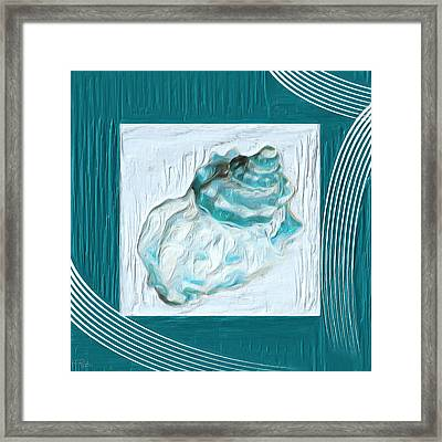 Turquoise Seashells Xxiv Framed Print by Lourry Legarde