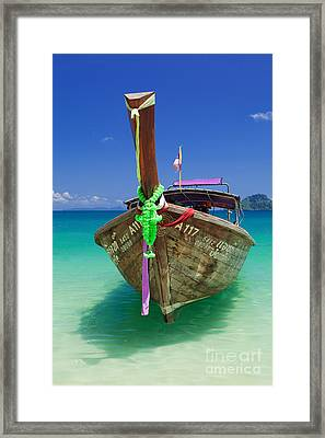 Turquoise Vibrance Framed Print by Pete Reynolds