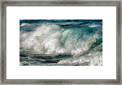 Turquoise Waves Framed Print by Stelio Photography