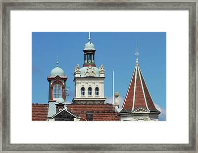 Turrets, Spires & Clock Tower, Historic Framed Print by David Wall