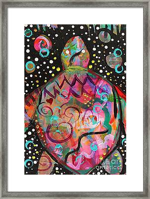 Turtle Medicine Framed Print by Kim Heil