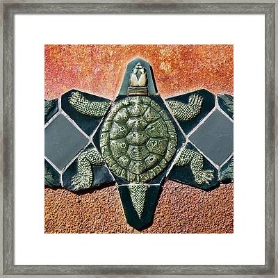 Turtle Mosaic Framed Print by Carol Leigh