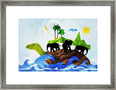 Turtles All The Way Down Framed Print by Anastasiya Malakhova