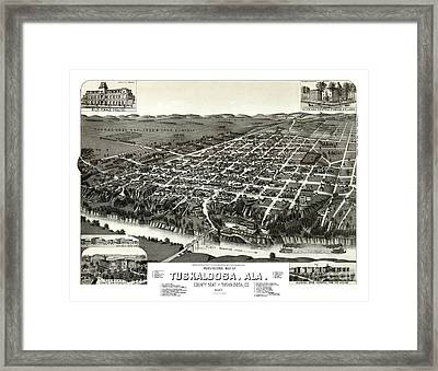 Tuscaloosa - Alabama - 1887 Framed Print by Pablo Romero