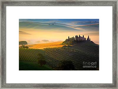 Tuscan Dawn Framed Print by Inge Johnsson
