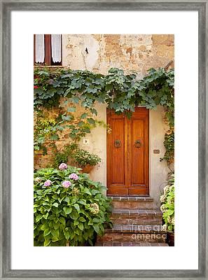 Tuscan Door Framed Print by Brian Jannsen
