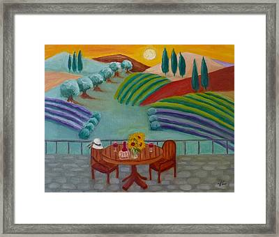 Tuscan Dreams Framed Print by Victoria Lakes