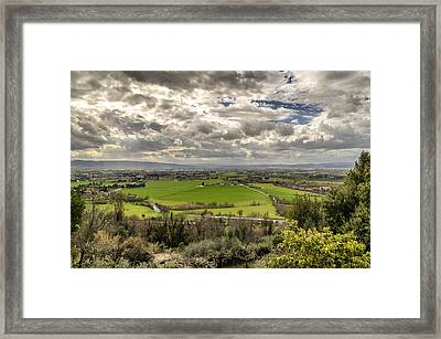 Tuscan Fields Framed Print by Pablo Lopez