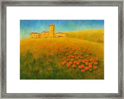 Tuscan Gold 1 Framed Print by Pamela Allegretto