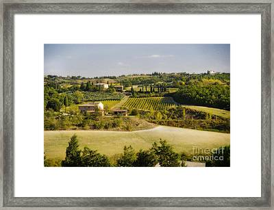 Tuscan Landscape Framed Print by Jim  Calarese