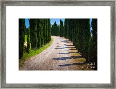Tuscan Road Framed Print by Inge Johnsson