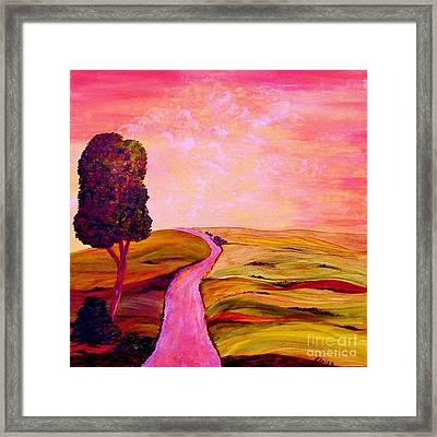 Tuscan Skies ... An Impressionist View Framed Print by Eloise Schneider