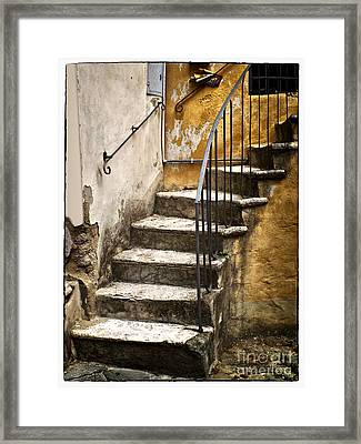 Tuscan Staircase Framed Print by Mike Nellums