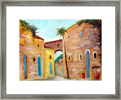 Tuscan Street Framed Print by Larry Cirigliano
