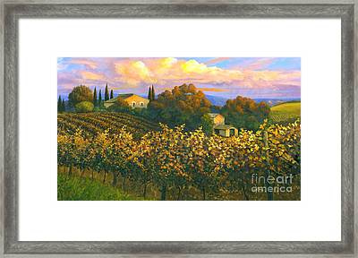 Tuscan Sunset 36 X 60 - Sold Framed Print by Michael Swanson