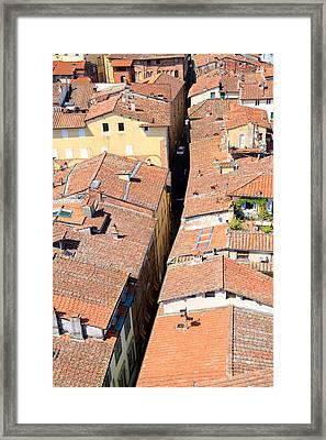 Tuscan Terracotta Framed Print by Valentino Visentini