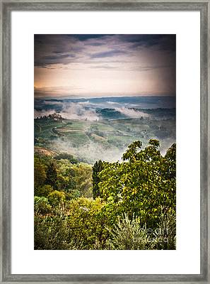 Tuscan View Framed Print by Silvia Ganora