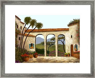 Tuscan Villa Of Beauty  Framed Print by Larry Cirigliano