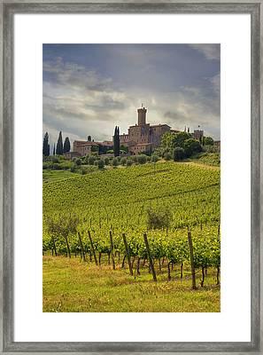 Tuscany - Castello Di Poggio Alla Mura Framed Print by Joana Kruse