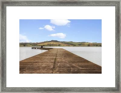 Tuscany - Lago Di Chiusi Framed Print by Joana Kruse